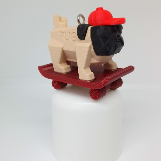 Download STL file PUG PUG SKATEBOARD • 3D printing template, PLP