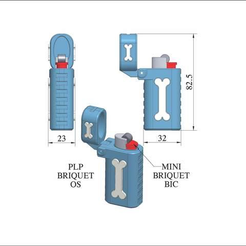 plp-briquet-assemblage-os.jpg Download free STL file PLP LIGHTERS HOLDER • 3D printer object, PLP