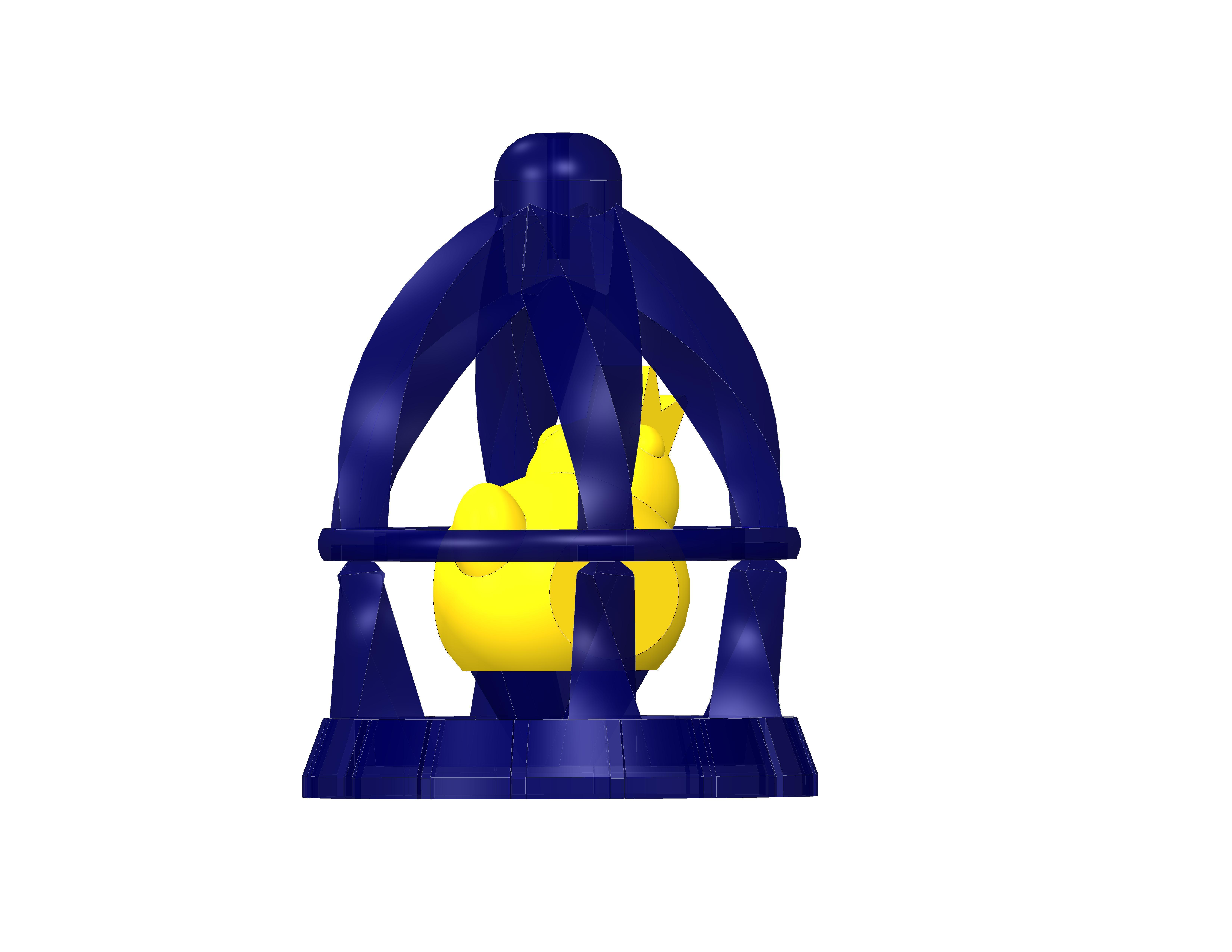 plp-cage-oiseau-.jpg Download free STL file PLP BIRD IN A CAGE • 3D printer model, PLP