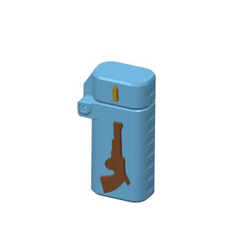 plp-briquet-assemblage-arme--.jpg Download free STL file PLP LIGHTERS HOLDER • 3D printer object, PLP