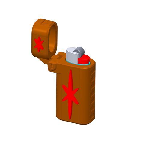 plp-briquet-assemblage-croix-.jpg Download free STL file PLP LIGHTERS HOLDER • 3D printer object, PLP