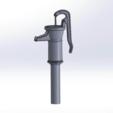 Descargar archivos 3D gratis Fuente antigua del jardín de la bomba de la mano del pozo, sthone
