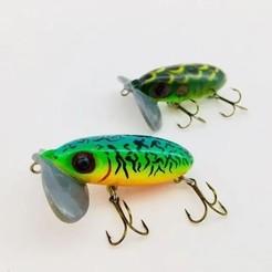 JitterBug38-1.jpg Download STL file Jitterbug Fishing Lure (3/8 oz) • 3D print model, sthone