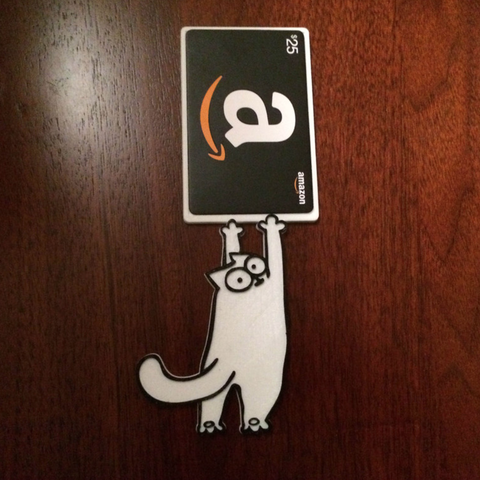 Free 3D printer model Simon's Cat Gift Card Holder, sthone