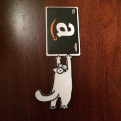 Free 3D printer file Simon's Cat Gift Card Holder, sthone
