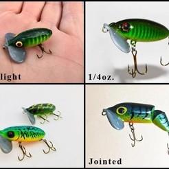 Jitter Bug Bundle.jpg Download STL file Jitterbug Fishing Lure Bundle • 3D printing model, sthone