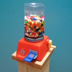 Free 3D printer model The Coin Slide Operated Jelly Bean Machine, sthone