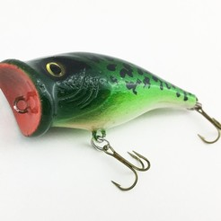 Download 3D printing models Popper Fishing Lure, sthone
