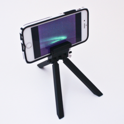 Free 3D printer files Cell Phone Tripod, sthone