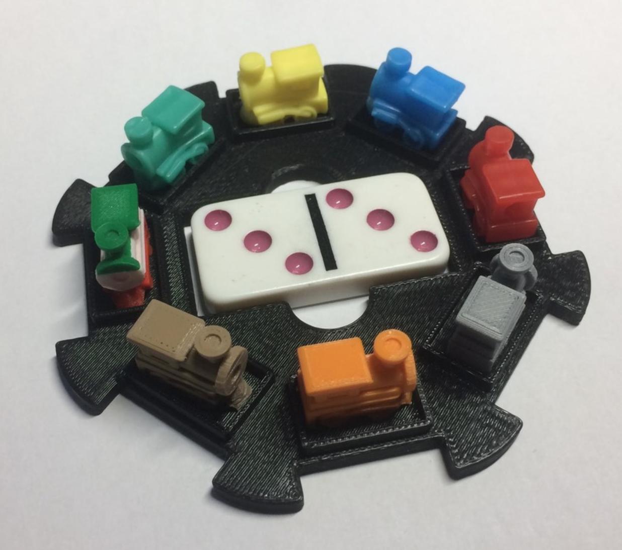 Capture d'écran 2018-01-02 à 12.10.06.png Download free STL file Mexican Train Domino Hub • 3D printer object, sthone