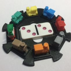Free 3d model Mexican Train Domino Hub, sthone