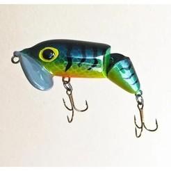 JitterBug-Jointed1.jpg Download STL file Jitterbug Fishing Lure (Jointed Version) • 3D printing template, sthone