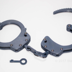 Free 3D printer model Realistic Handcuffs, sthone