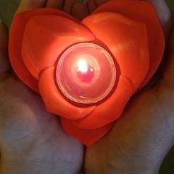 Download free 3D printer designs Romantic Tealight Holder, PUR3D