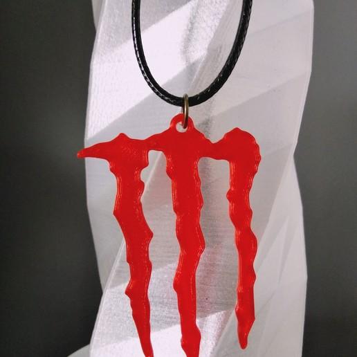 Download free 3D printing models Monster Energy Earring / Pendant / Keychain, SamiJoe