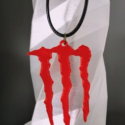 Download free 3D printing models Monster Energy Earring / Pendant / Keychain, SamiJoe