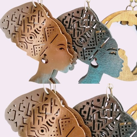 Download free 3D printing designs Queen Titi earrings or key ring, SamiJoe