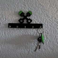 Pistons_key_holder08.JPG Télécharger fichier STL gratuit Pistons Porte-clé / Support mural de cles Pistons • Objet à imprimer en 3D, SamiJoe