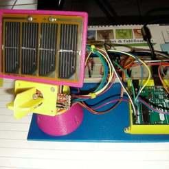 SANY0009.JPG Download free STL file Dual Axis Solar Tracker / 2 Axis Solar Tracker • 3D printer template, SamiJoe