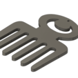 Download free STL file Earring Comb Afro Adinkra Duafe #ANYCUBIC3D • 3D printer object, SamiJoe