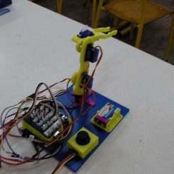 SANY0028.JPG Download free STL file Robotic Arm (based on serv-arm) • Model to 3D print, SamiJoe