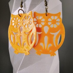 Download free 3D printer templates Earring / pendant / key ring Owl, SamiJoe