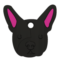 Download STL files French Bulldog Keychain, jan90