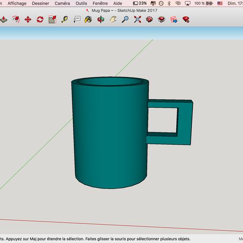Download STL file Mug Navy Blue • 3D printing design, LeO