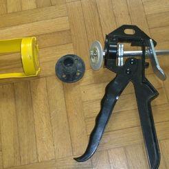 Imprimir en 3D gratis tornillos de fijación para pistola de pegamento, silicona etc., BENHUR
