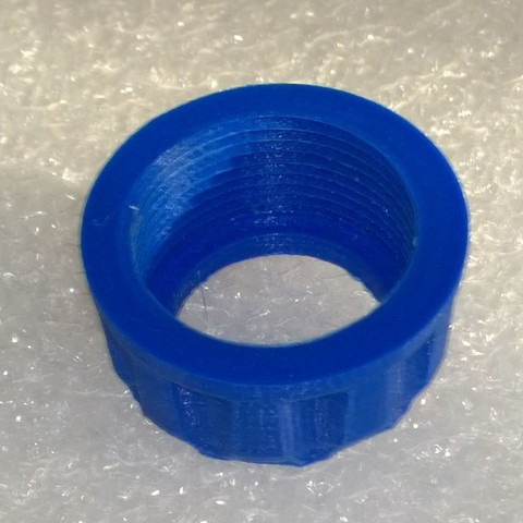 Download free 3D printer designs Ring for quick coupling water hose 19, BENHUR