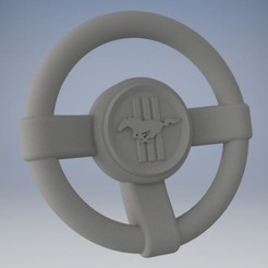 PV1.jpg Download STL file Steering Wheel MUSTANG (for kids) • 3D print model, 3DJuenjo