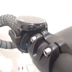 Download free 3D printer designs Garmin watch bike mount kit, xavden