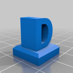 Download free 3D printing templates Lego letters (2x2 brick), xavden