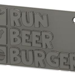 Télécharger fichier impression 3D gratuit Porte-clés Run Beer Burger, xavden