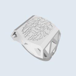 Download 3D printing models Lion head signet ring, enzo_dsd