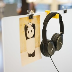 stl files Headphone holder for office desk divider, ShawnShi