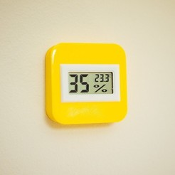 Download STL files Humidity meter/ thermometer minimalistic case - desktop or wall mount, ShawnShi