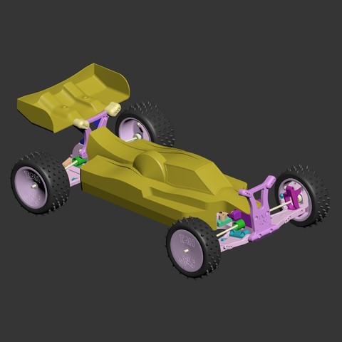 mkultra08.jpg Download free STL file Mk Ultra - 3D printable 1/10 4wd buggy • Object to 3D print, tahustvedt