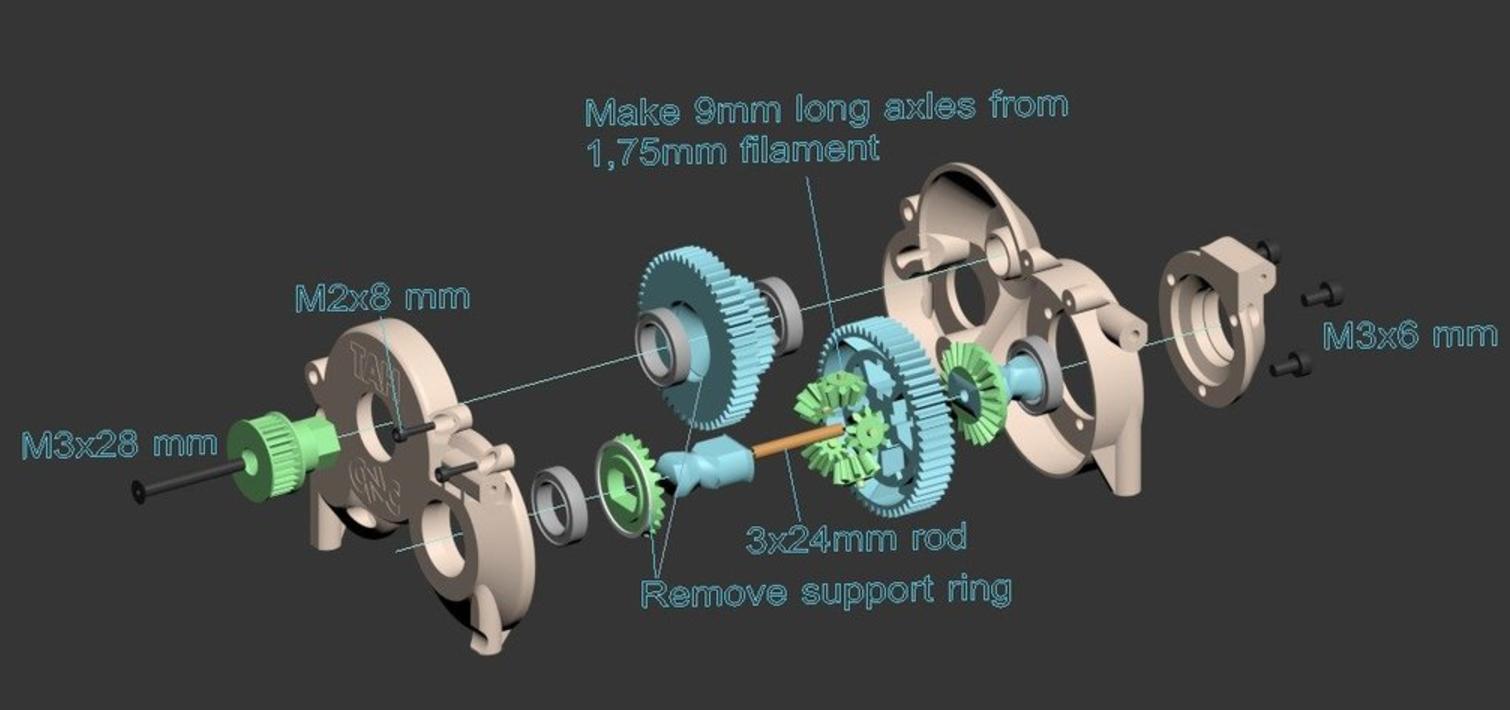 Capture d'écran 2017-06-20 à 09.55.38.png Download free STL file Lynx - Fully 3D-printable 1/10 4wd buggy • Object to 3D print, tahustvedt