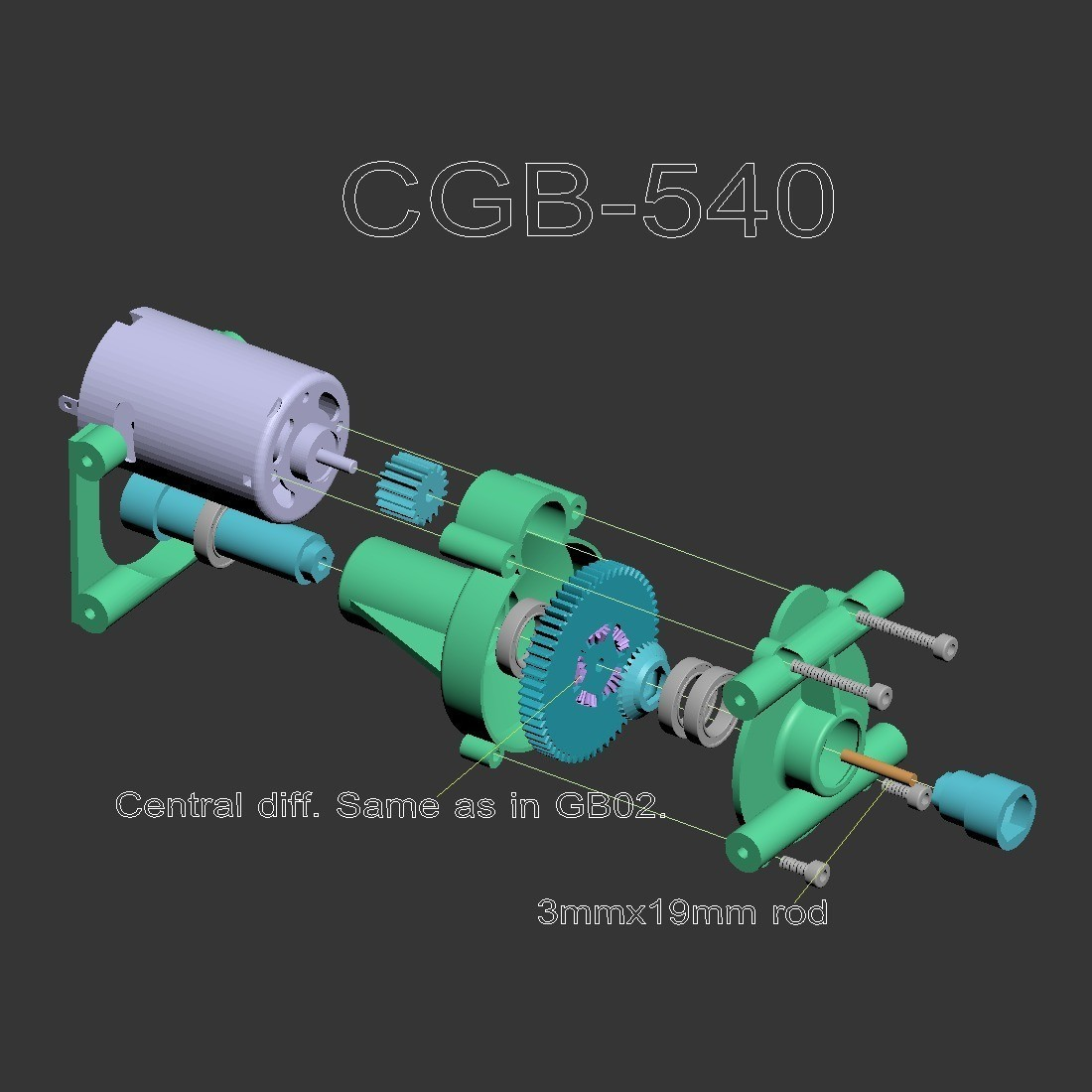 CGB-540.jpg Download free STL file Fully printable Monster Truck • 3D printer design, tahustvedt