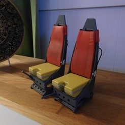 Scale helicopter seats. Westland Lynx 1:8 seats. STL file, tahustvedt