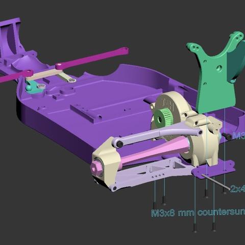 Capture d'écran 2017-06-20 à 09.55.56.png Download free STL file Lynx - Fully 3D-printable 1/10 4wd buggy • Object to 3D print, tahustvedt