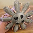 Download free STL file Le Rhone spinning radial dummy engine for RC planes • 3D printing object, tahustvedt