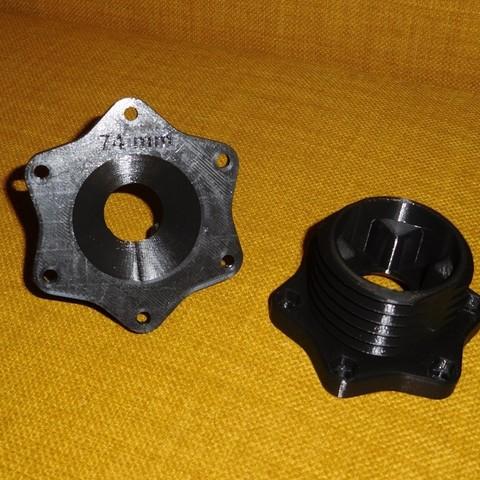 Télécharger STL Adaptateurs de volant Thrustmaster T500RS - Nombreux types de roues., tahustvedt