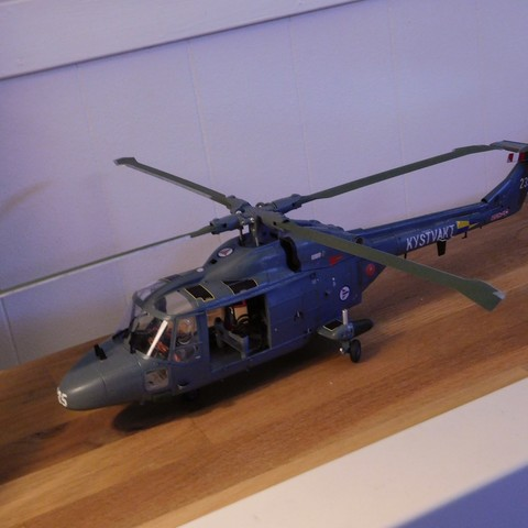STL file Conversion kit for making a flyable Revell 1:32 Westland Lynx kit., tahustvedt