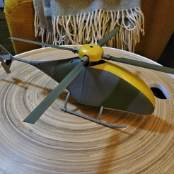 Download free 3D printer designs Fully Printable Collective Pitch RC helicopter., tahustvedt