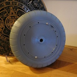 Descargar STL gratis 1/4 scale FW190 wheel and tire, tahustvedt