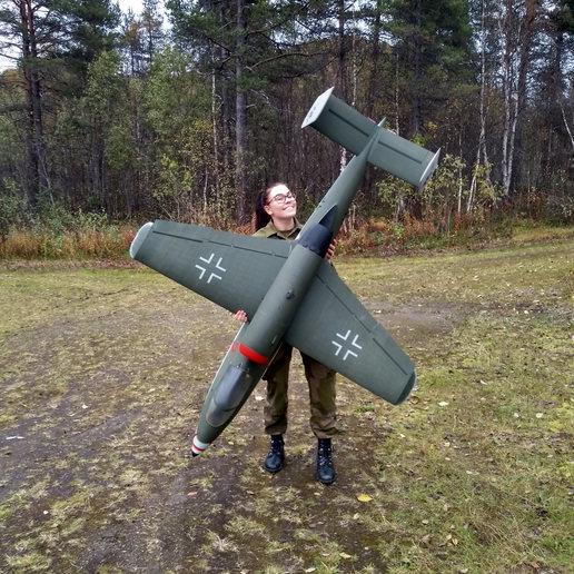 Descargar STL Gigante a escala 1:4,5 Heinkel He-162 A2 Modelo de avión RC, tahustvedt