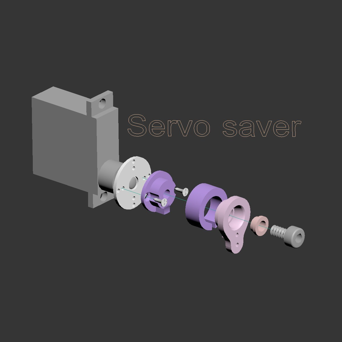 Servosaver01.jpg Download free STL file Fully printable Monster Truck • 3D printer design, tahustvedt