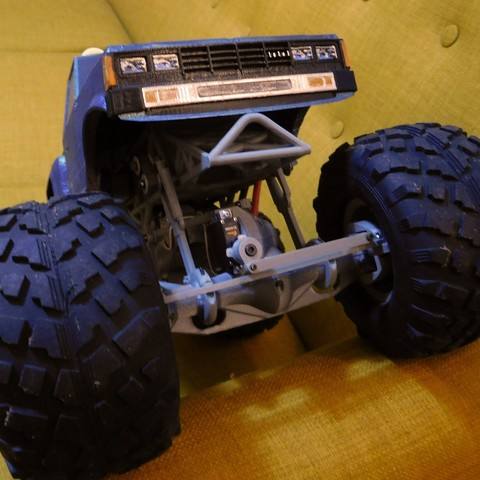 DSCN1429.JPG Download free STL file Fully printable Monster Truck • 3D printer design, tahustvedt